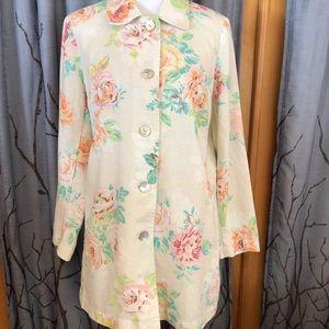 J. Jill M Linen/cotton blend floral jacket
